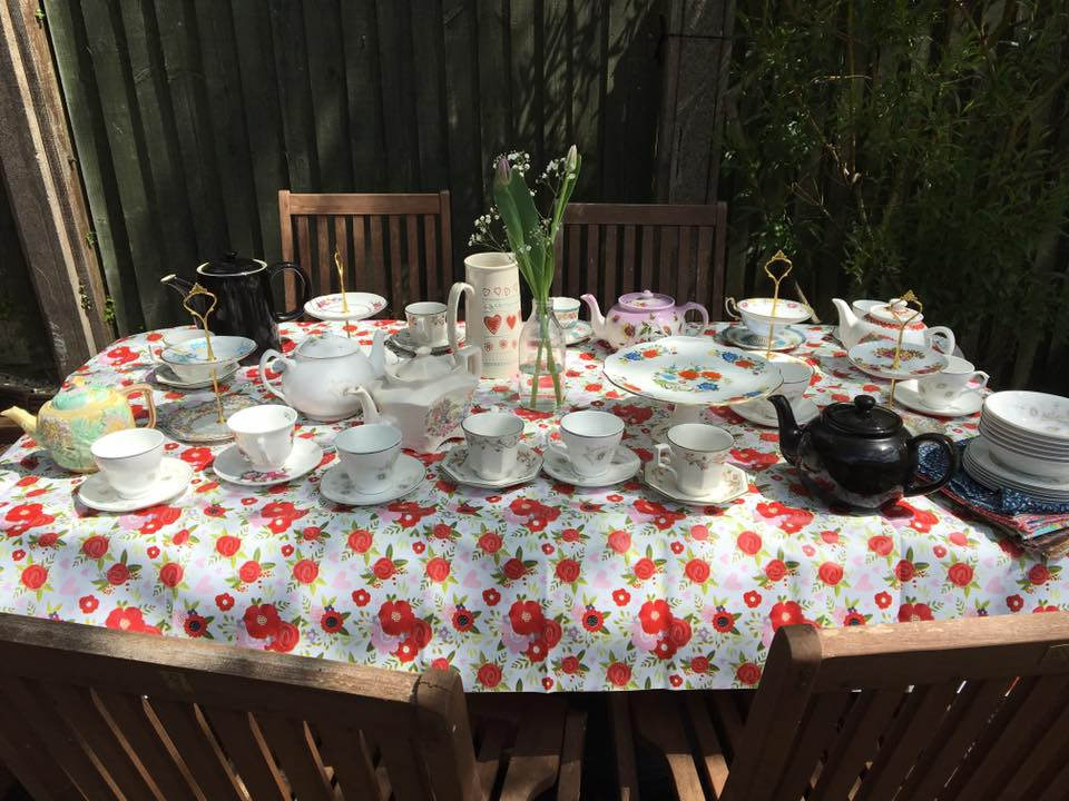 vintage crockery 1950's hen weekend