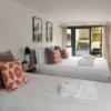 Bath hot tub and yoga retreat bedroom