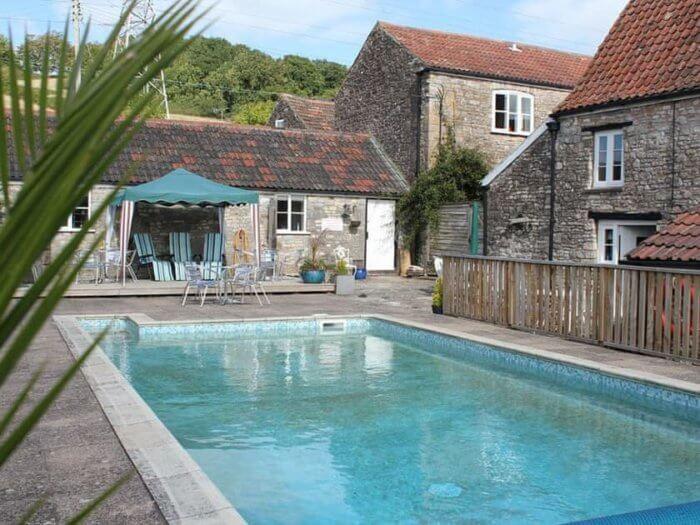 Stone Farmhouse pool, hen party venue