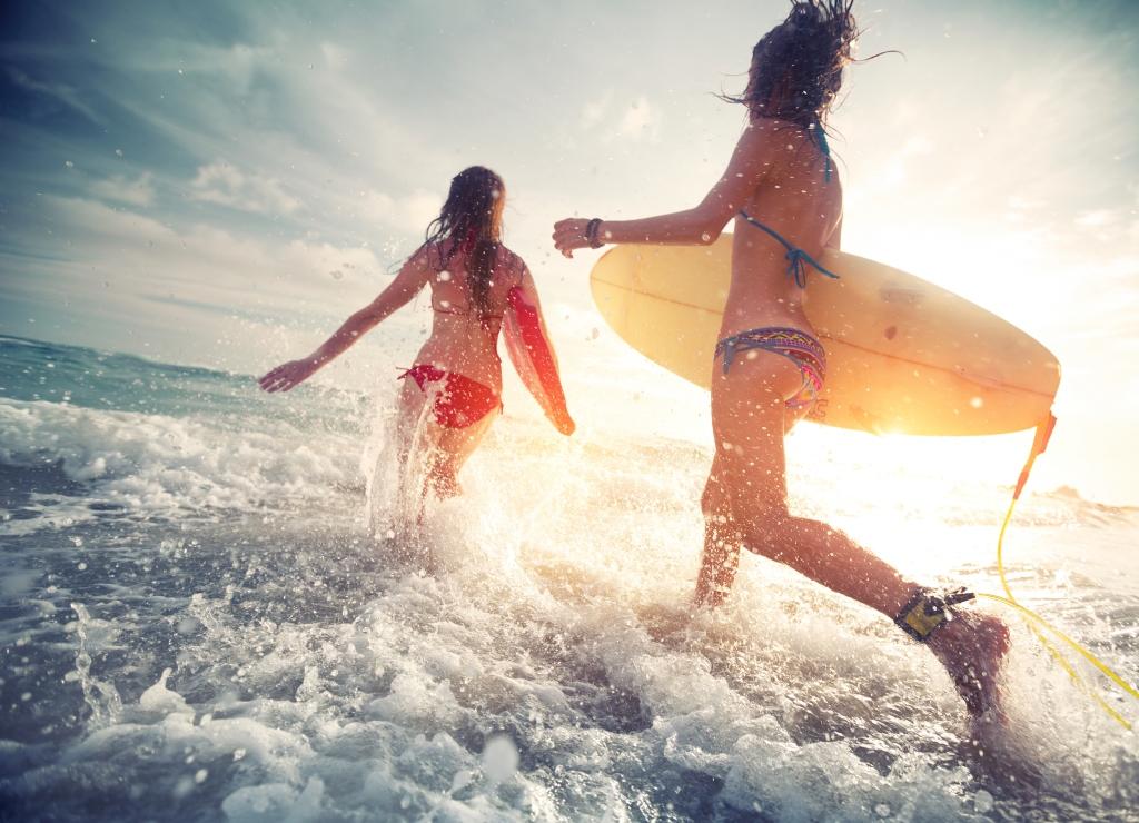 surfing water based hen weekends
