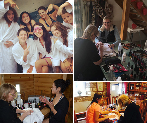 group beauty treatment hen party activity