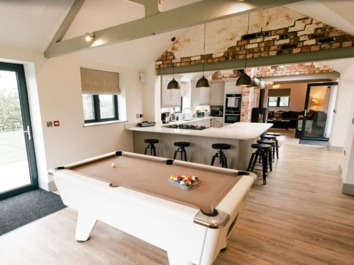 new barn conversion cheshire kitchen 1, hen party house