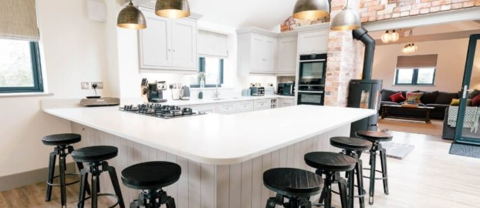 new barn conversion cheshire kitchen 2, hen party house