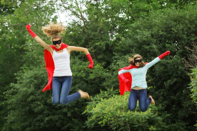 style hen cottage fun super hero