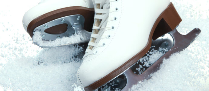 style hen party activity, ice-skating