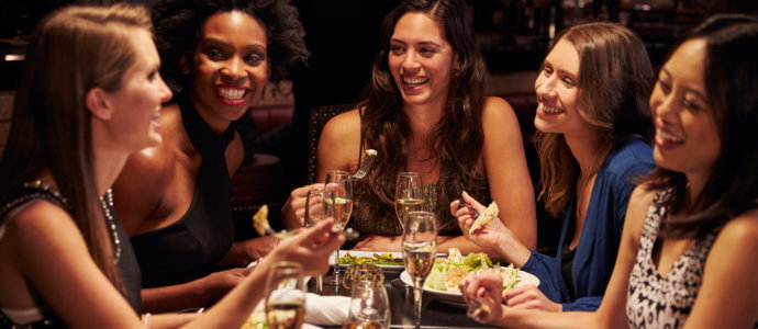 hen party activity, meal out