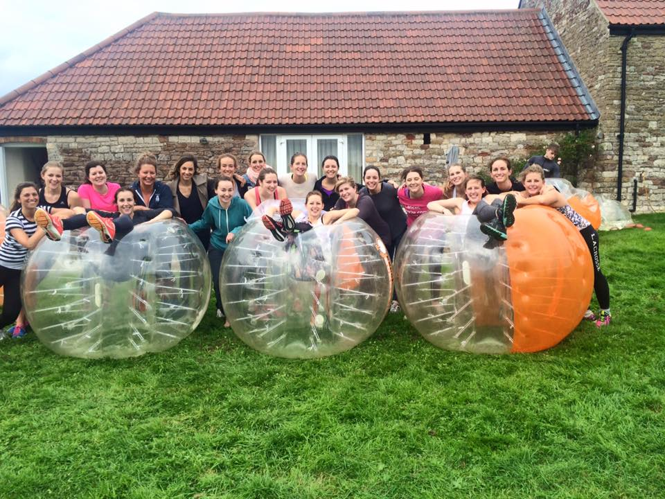 zorbing fitness fanatic hen weekends